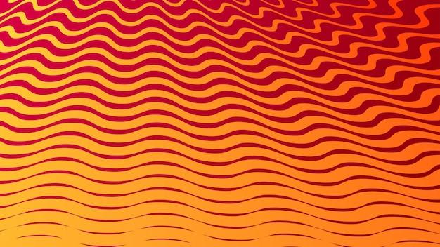 Abstrait avec un design géométrique en demi-teintes dans des couleurs orange