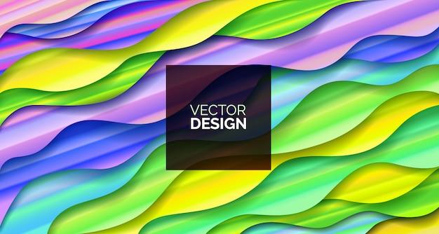 Abstrait design géométrique fluide avec des liquides et des formes.
