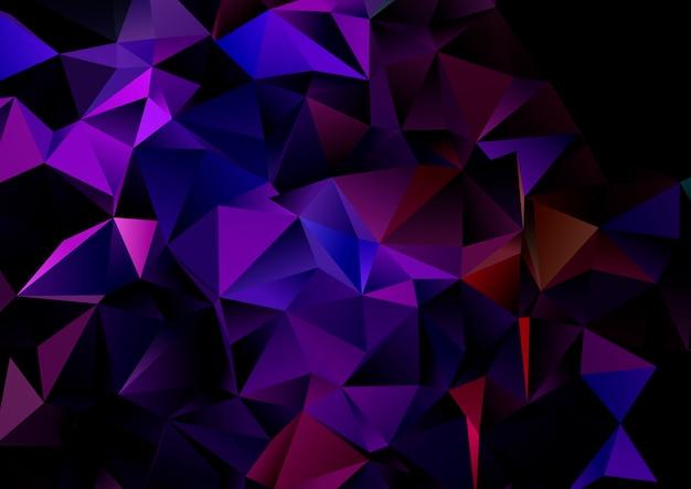 Abstrait avec un design low poly géométrique sombre