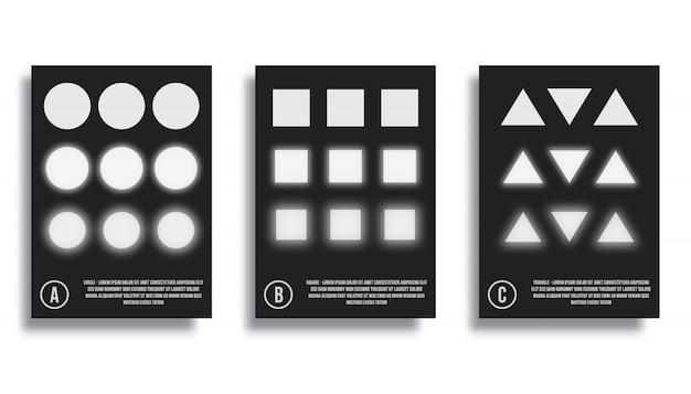 Abstrait design minimaliste