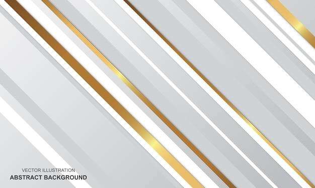 Abstrait design moderne de luxe blanc et doré