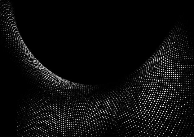 Abstrait avec un design moderne de points de demi-teintes