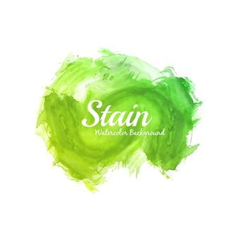 Abstrait design de tache aquarelle vert vif