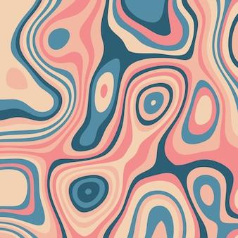 Abstrait avec un design de topographie colorée