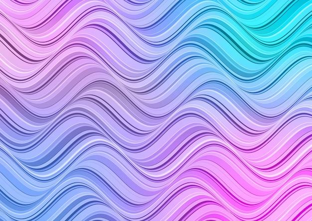 Abstrait avec un design de vagues de couleur pastel