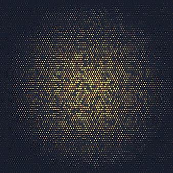 Abstrait avec dessin d'or