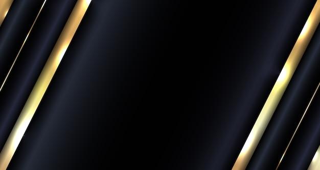 Abstrait diagonale métallique or sur fond sombre