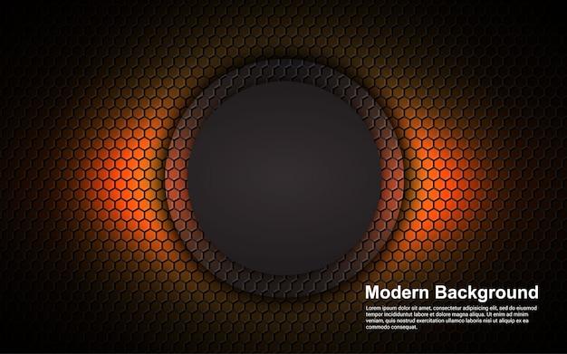 Abstrait dimension orange sur fond noir moderne