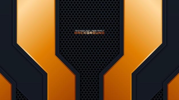 Abstrait doré avec grille de haut-parleur métallique, illustration vectorielle