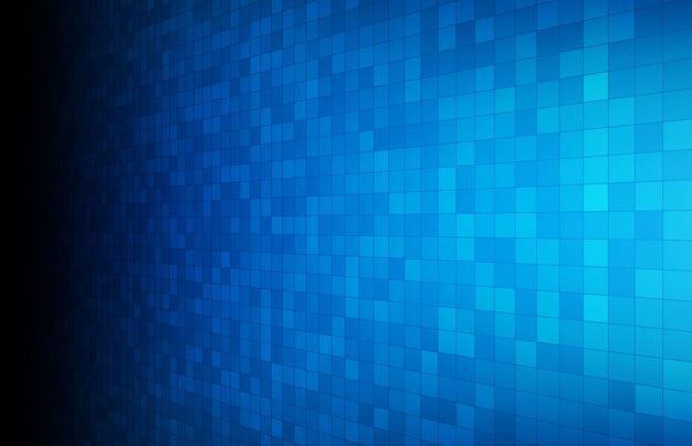 Abstrait du carré rectangle rougeoyant bleu