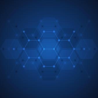 Abstrait du motif de forme hexagones
