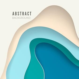 Abstrait avec du papier blanc découpé des formes. mise en page pour présentations commerciales, flyers, affiches. illustration