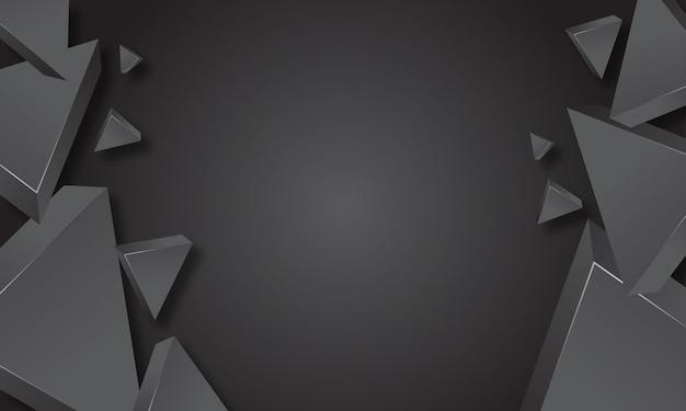 Abstrait du triangle gris