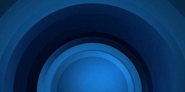 Abstrait dynamique bleu foncé brillant avec des lignes de cercle. couverture 3d de bannière de présentation d'entreprise à vendre soirée événement
