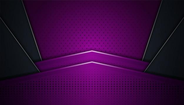 Abstrait dynamique avec design futuriste et arrière-plan de style 3d