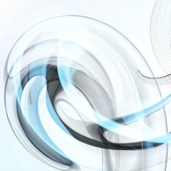 Abstrait dynamique, illustration futuriste ondulée, concept d'art