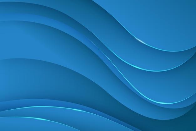 Abstrait dynamique avec des lignes ondulées