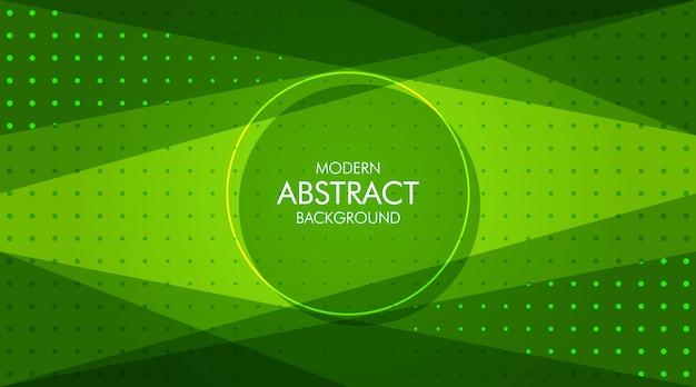 Abstrait dynamique moderne vert