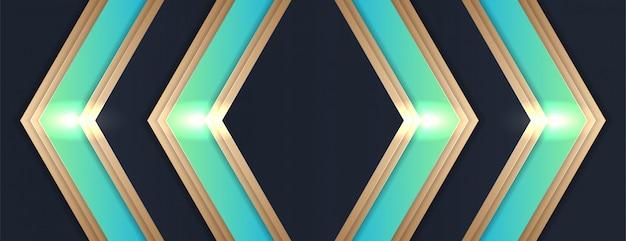 Abstrait dynamique texturé avec un style 3d de fond géométrique luxueux