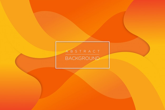Abstrait dynamique vague orange