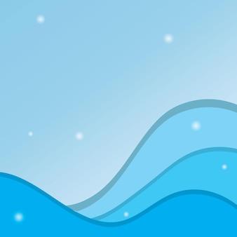 Abstrait eau vague élément vector illustration