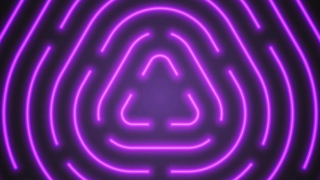Abstrait d'éclairage vecteur violet néon