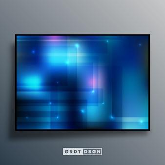 Abstrait avec effet dégradé bleu