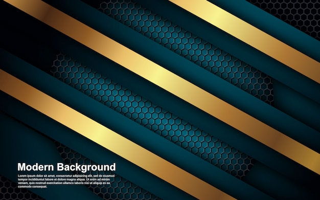 Abstrait effet doré sur la couleur bleue moderne