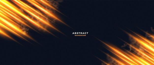 Abstrait avec effet de lumière au néon de mouvement