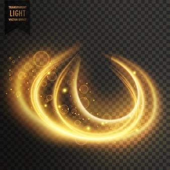 Abstrait effet lumière dorée transparente