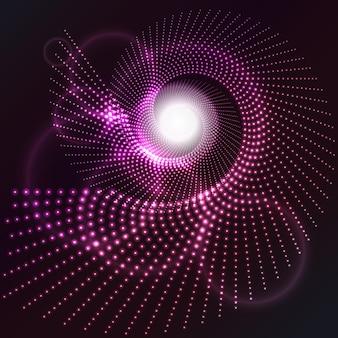 Abstrait avec un effet de lumière rougeoyante