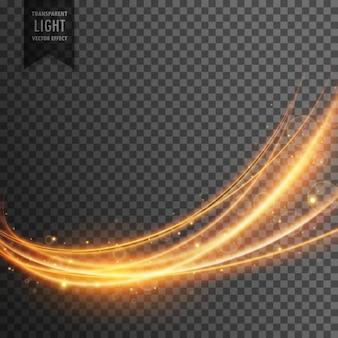 Abstrait effet de lumière transparente dans le style d'onde
