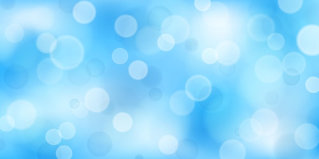 Abstrait avec effets bokeh dans des couleurs bleu clair