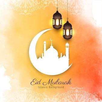 Abstrait eid mubarak design islamique