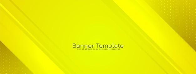 Abstrait élégant bannière rayée jaune