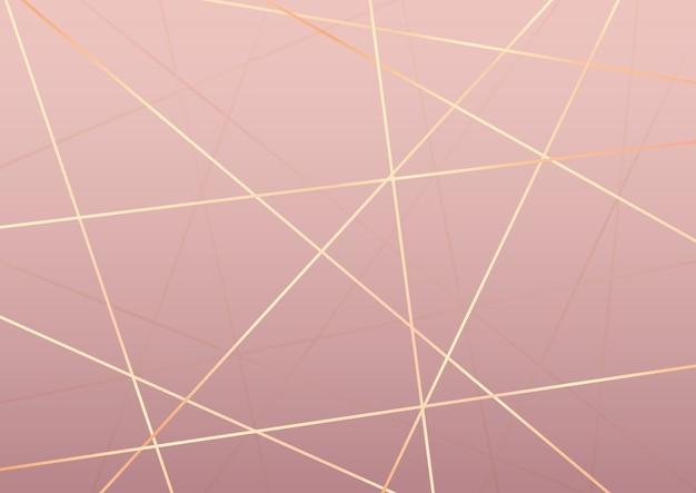 Abstrait élégant avec un design de lignes dorées