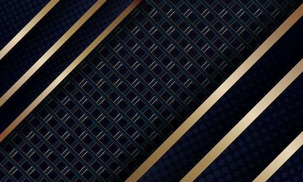Abstrait élégant avec des lignes diagonales dorées