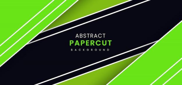 Abstrait élégant papier coupé fond