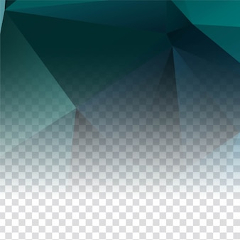 Abstrait élégant polygonale transparent