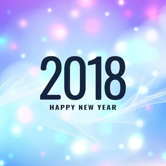 Abstrait élégant rougeoyant nouvel an 2018 fond