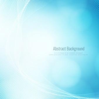 Abstrait élégant vague bleue moderne