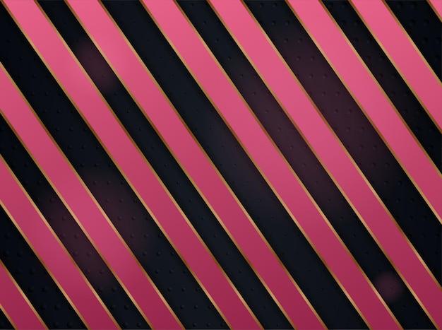 Abstrait avec élément de variation diagonale utiliser rose et or.