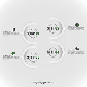 Abstrait éléments ronds infographie