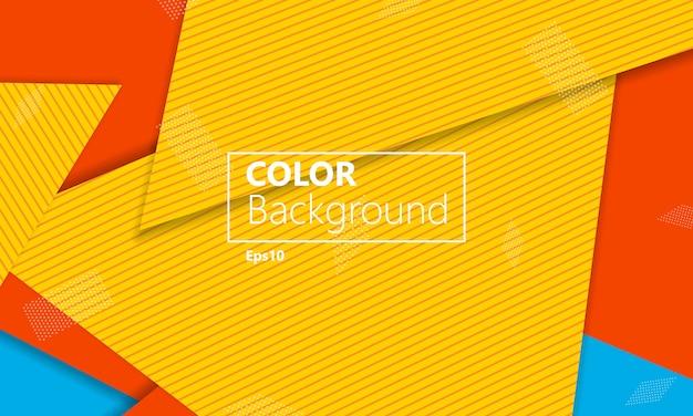 Abstrait de l'été. illustration géométrique. fond d'écran coloré lumineux. matériel .