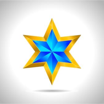 Abstrait étoile. superposer des formes d'étoiles en bleu nouvel an noël