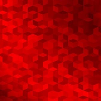 Abstrait fait de petits cubes rouges