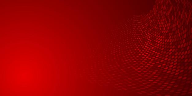 Abstrait fait de points de demi-teintes dans des couleurs rouges