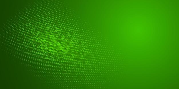Abstrait fait de points de demi-teintes dans des couleurs vertes