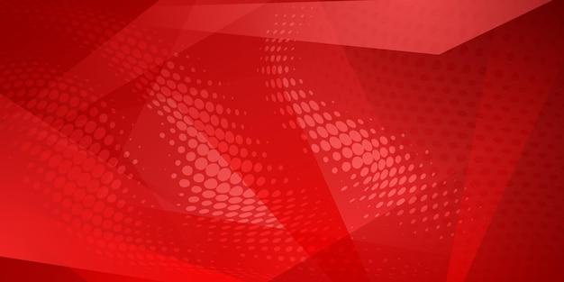 Abstrait fait de points de demi-teintes et de lignes droites de couleurs rouges