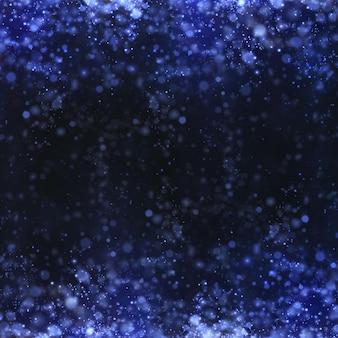Abstrait festif fait de petites particules de poussière de néon